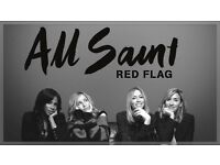 2x standing tickets for All Saints Red Flag Tour