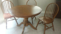 Solid Oak Kitchen or Small Dining Room Table