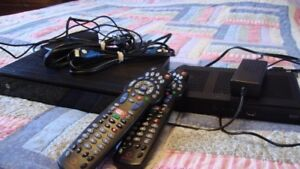 2 Rogers PVR /DVR  receivers with remotes