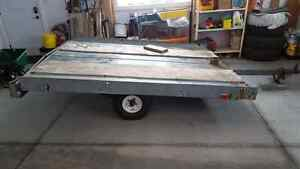 Galvanized sled trailer