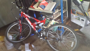 21 speed Mountain bike dual shocks bike is in good condition