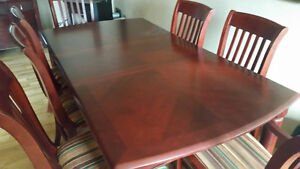 Dining table and cabinet