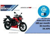SUZUKI GSX-S125 BRAND NEW MODEL IN FOR IMMEADIATE DELIVERY ON LOW RATE FINANCE