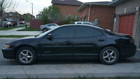 1999 BLACK Pontiac Grand Prix GTP Supercharged (Selling AS-IS)