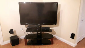 Entire Entertainment Unit - TV and Surround Sound Speakers