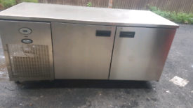 Foster commercial large counter Freezer stainless steel fully working