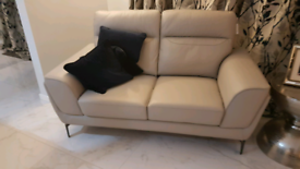 Grey Leather 2 seater sette