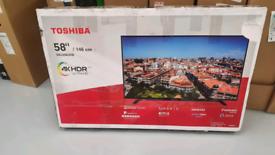TV 58INCH TOSHIBA NEW UNUSED SMART WIFI 4K ULTRA HD HDR