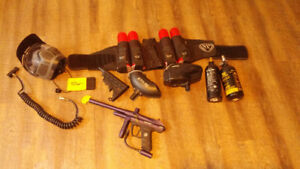 Viper paintball gun and accessories