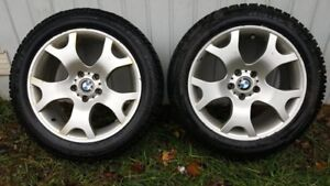BMW studded Winter wheels and tires 255/50 R19