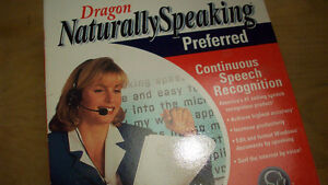 Dragon Naturally speaking, Voice to text software 40 words/min