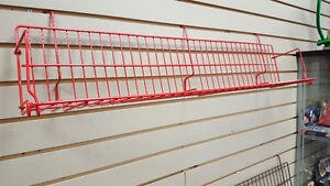 Slatwall wire shelving for retail display - used
