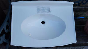 New White Bathroom Sink