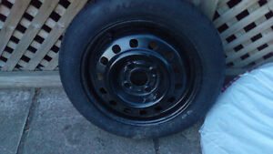 Spare tire on wheel 4-108mm 15 inches