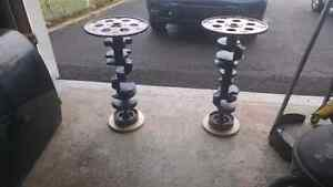 SBC CRANKSHAFT END TABLES / pedistal tables MANCAVE West Island Greater Montréal image 1