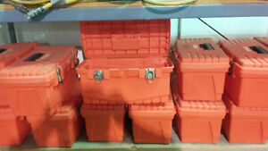 Storage bins and tool boxes