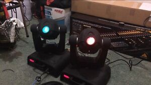 Two lumi moving head stage lights