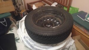 """15"""" snow tires with rims & sensors"""
