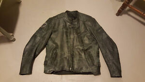 Leather Speed and Strength Motorcycle Jacket - SIZE L