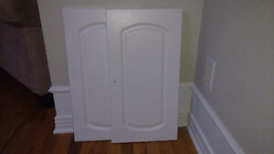 "BRAND NEW Set of 2 White Thermofoil Cabinet Doors 23.25"" x 12"""