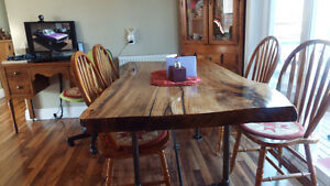 wood table for kitchen or dinning room