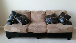 Oversized couch and chair