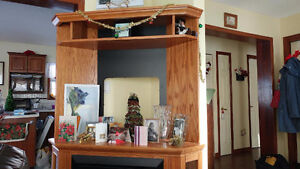 Corner Entertainment Unit with Electric Fireplace Stratford Kitchener Area image 6