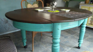 vintage solid pine dining table