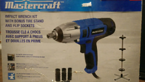 Master Craft with Impact Wrench Kit+Tire Stand and Flip Socket.