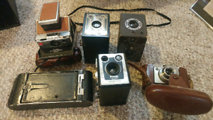 6 vintage / antique cameras