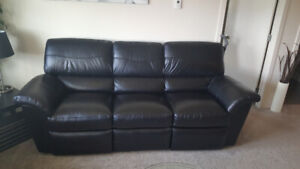 LazyBoy leather reclining couch