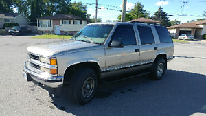 1999 tahoe 4x4 fully loaded cert etested, make an offer or trade