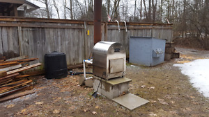 Swimming Pool Wood Stove Heater