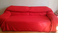 Sofa 2 places avec lit ouvrable / 2-seat couch with folded bed