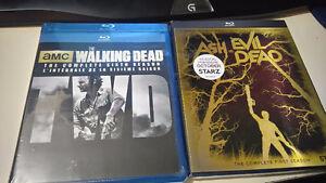 Ash vs. Evil Dead S1/The Walking Dead S6 blu-rays