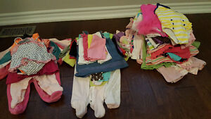 Lot of baby girl clothes 6-12m. 85 items. $70 OBO