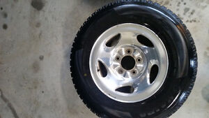 97-03 f150 excursion alloy rims w/ haida winter tires set of 4