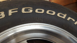 BF Goodrich Radial T/A 225 70 R14 Tires with eagle alloy wheels Strathcona County Edmonton Area image 2
