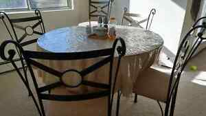 Dining table with 4 chairs.  Glass top London Ontario image 1