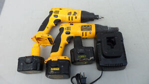 Dewalt Drywall Screwdriver with 3 Batteries and Charger $40
