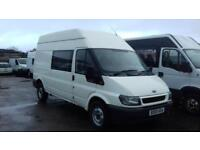 Ford Transit 2.4TDI 350 LWB MOT NOV 18 REAR SEATS+SIDE WINDOWS.
