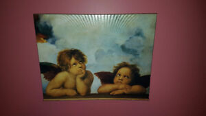 Angels Watching Painting