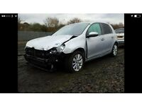 Vw golf match 2.0 tdi 140 bhp cat D damaged