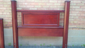 FS:  Queen Size Headboard/Footboard and Deco Wrought Iron Detail