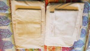 Ensemble de draps pour lit Queen - Blanc