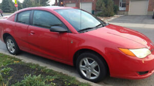 2007 Saturn Ion- 4D red coupe- low km-Automatic transmission