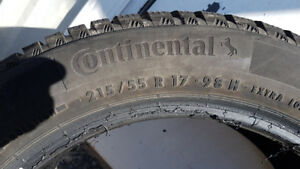 Winter Tires 215/55/R17 One Season Great Shape! Continental