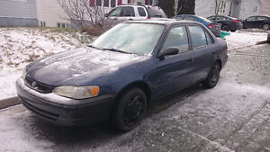 1998 Toyota Corolla VE Sedan for parts or fix up