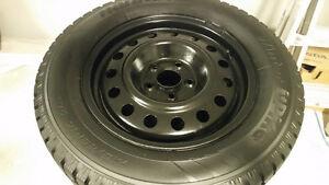 215/65R16 Hankook Ipike Winter Tires on Rims ~ 95%~ 5X114.3 lug