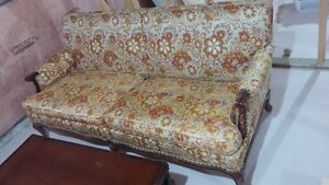 Antique sofa with coffee table London Ontario image 1